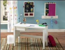 White Student Desk